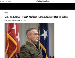 Vers une nouvelle intervention militair