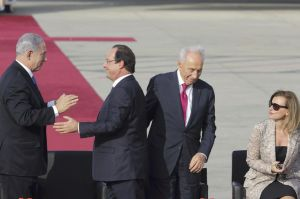 hollande-and-his-companion-valerie-trierweiler-are-welcomed-by-israel-s